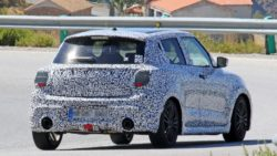2017 Swift Sport Spied Testing- Shows Twin Exhausts 3
