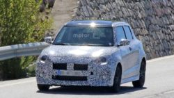 2017 Swift Sport Spied Testing- Shows Twin Exhausts 2
