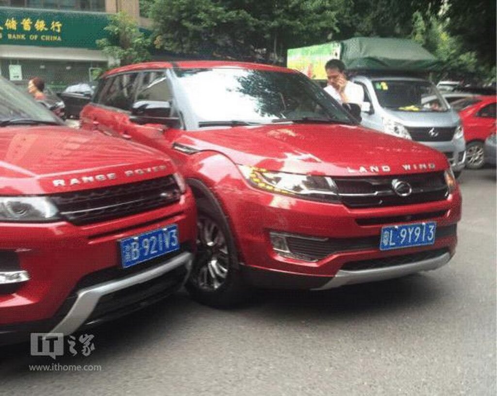 Crash Of The Clones: X7 Crashes Into Evoque In China! 24
