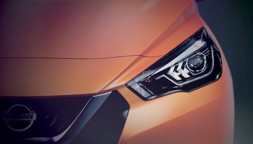 Nissan Released First Teaser of the 2017 Nissan March 24