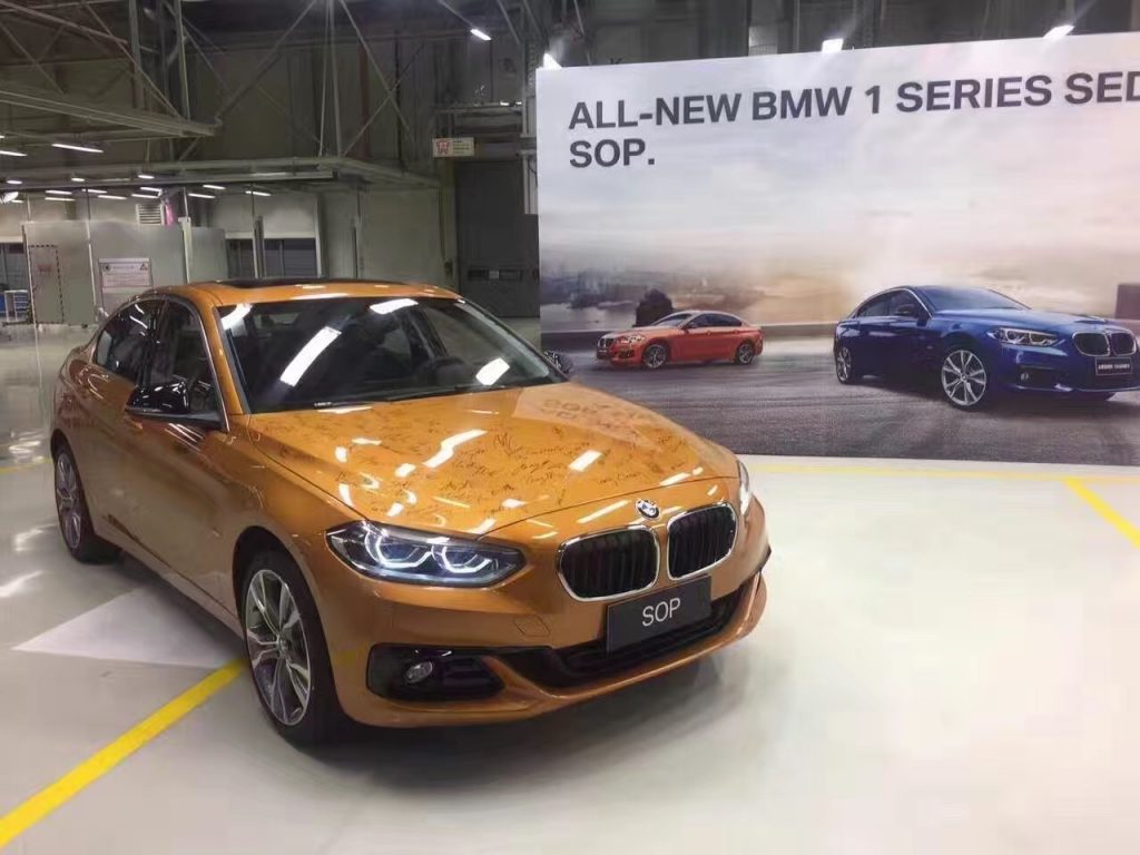 BMW 1 Series Sedan- Production Begins in China 1