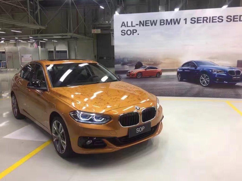 BMW 1 Series Sedan- Production Begins in China 1