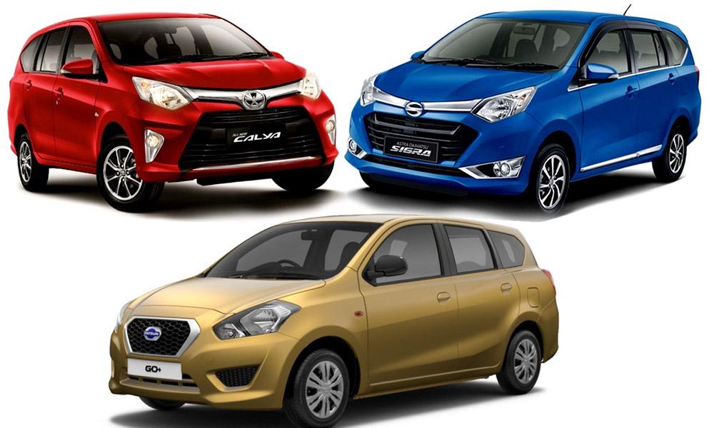 Tiga mobil Datsun yang populer di Indonesia, yaitu Datsun Calya, Datsun Sigra, Datsun Go+