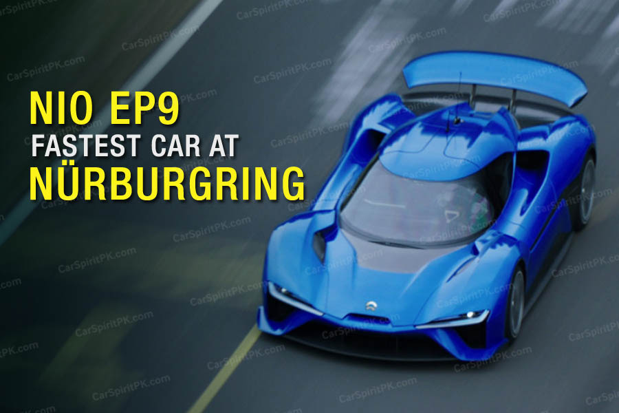 All-Electric NIO EP9 Beats Lamborghini Huracan Performante's Nurburgring Time 1