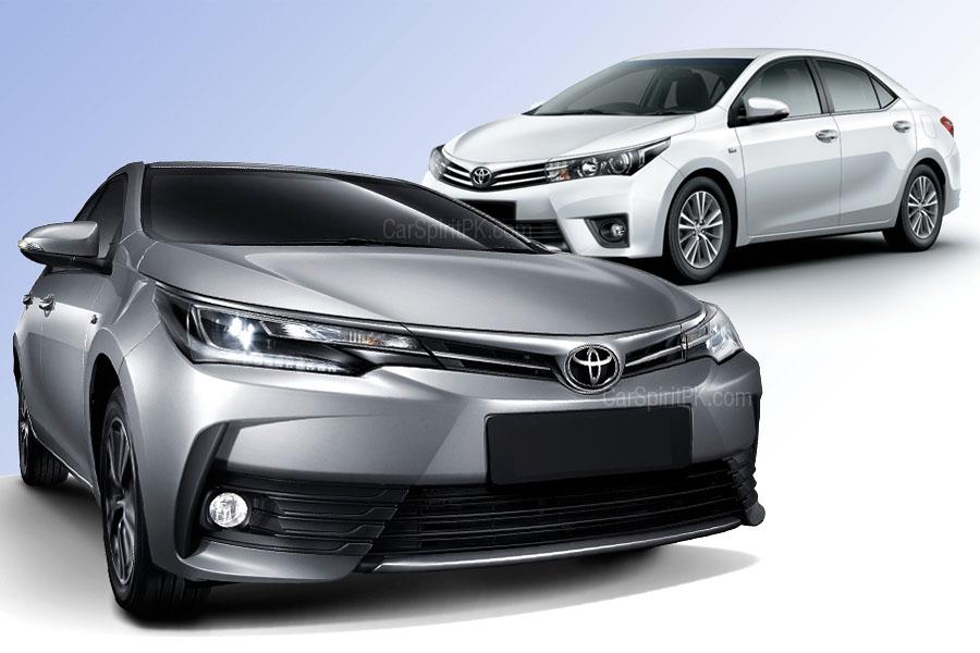 2017 Toyota Corolla- New (Facelift) vs Old 2