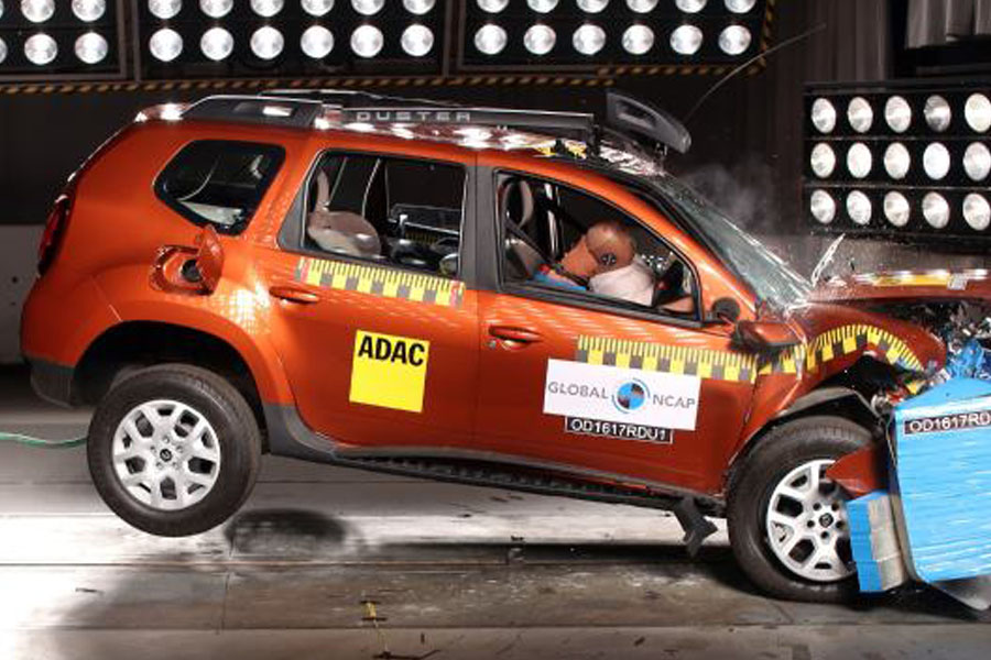 Indian Renault Duster Scores Zero Star in Global NCAP Crash Test 3