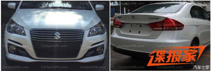 Suzuki Ciaz/ Alivio Facelift Spotted 1