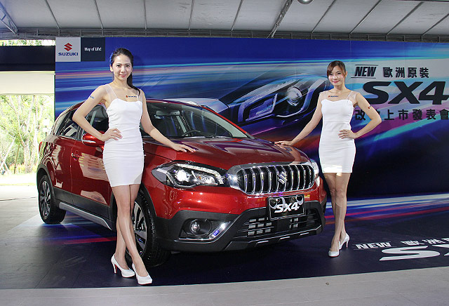 Taiwanese-spec-2017-Suzuki-SX4-2017-Maruti-S-Cross-front-three-quarters-left-side