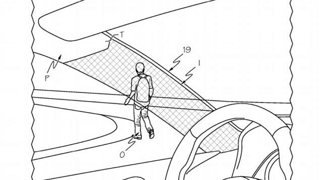 Toyota Patents Cloaking Device to Allow Clear Visibility Through Pillars 8