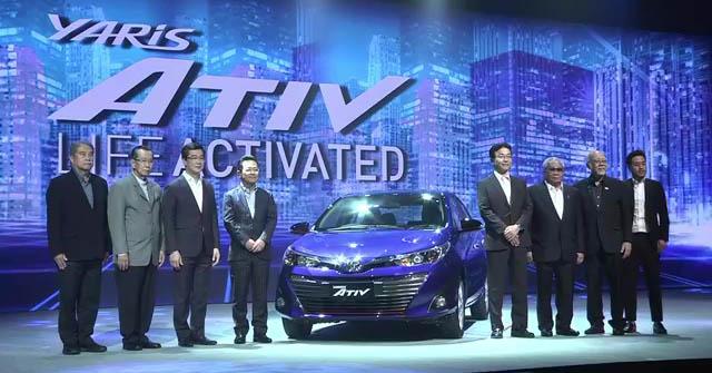 New Toyota Yaris Ativ Sedan Launched in Thailand 2