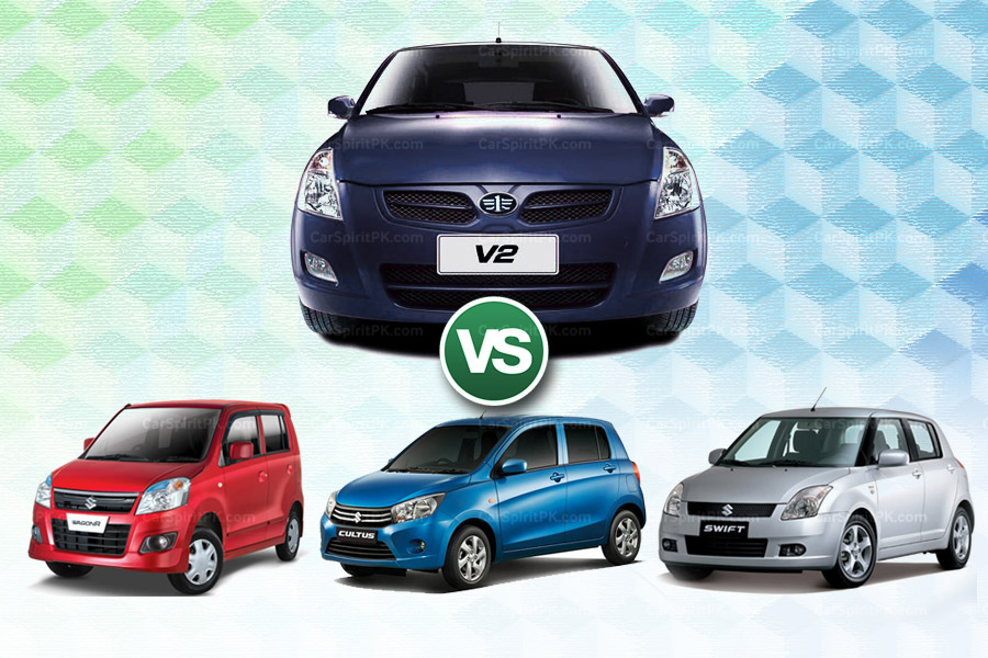 How FAW V2 Stacks Up Against Three Suzuki Hatchbacks 2