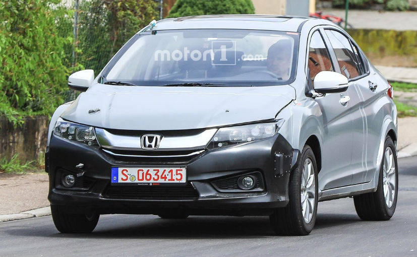 Honda City Hybrid Spotted Testing in Europe 1