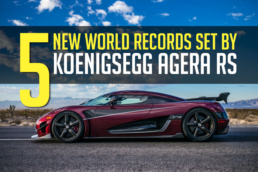 Koenigsegg Agera RS sets Not 1 but 5 New World Records 2