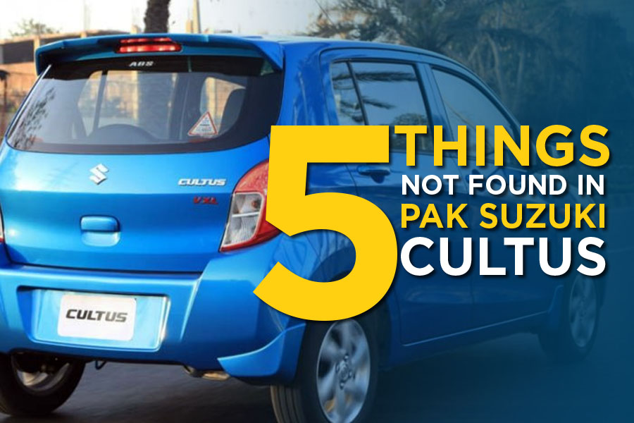 5 Celerio Features Not Found in PakSuzuki Cultus VXL 1