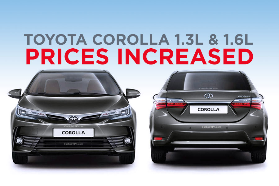 Indus Motors Increase Corolla 1.3 and 1.6 Prices 1