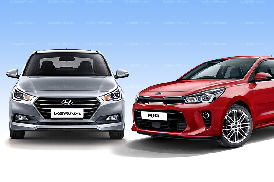 Hyundai verna and kia rio the competitors arriving for Hyundai kia motor finance