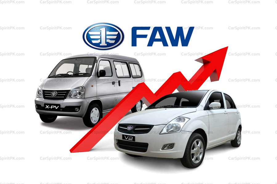 FAW Car Prices Revised 20