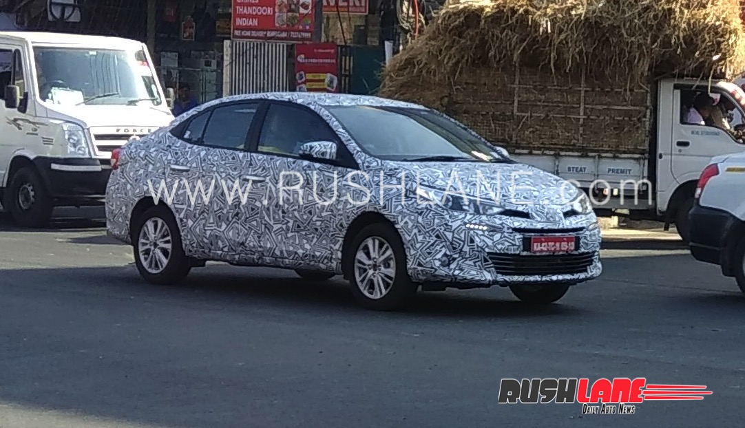 Toyota Vios Spied in India- Launched Expected by April 2018 3
