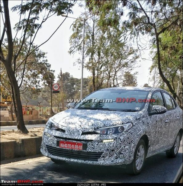 Toyota Vios Spied in India- Launched Expected by April 2018 1