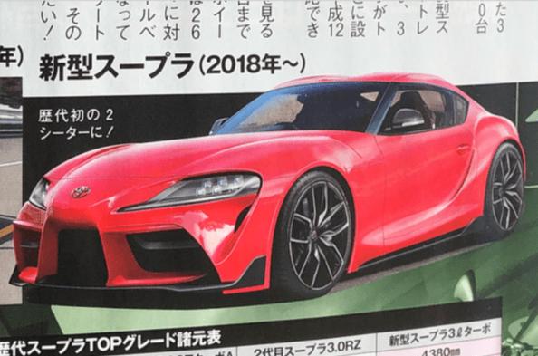 2019 Toyota Supra: Renderings and Statistics Leaked 2