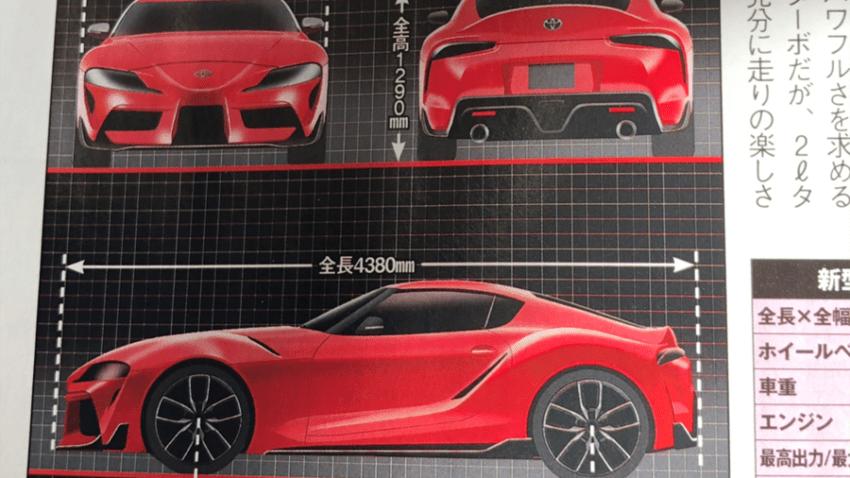 2019 Toyota Supra: Renderings and Statistics Leaked 7
