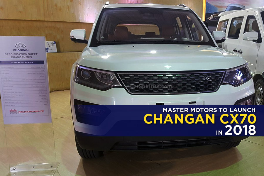 Master Motors Showed Changan CX70 SUV at 2018 ITIF 1