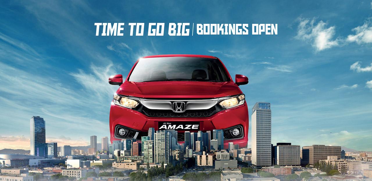 2018 Honda Amaze Pre-Launch Bookings Open in India 2
