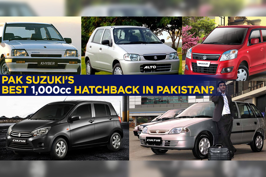Which is the Best 1000cc Hatchback by PakSuzuki? 1