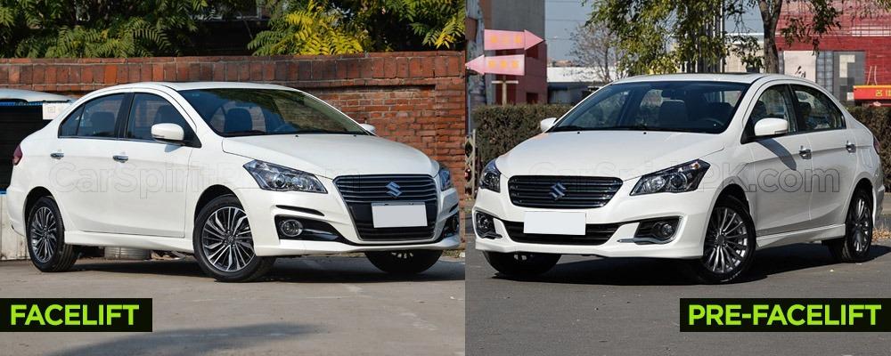 Visual Comparison: Suzuki Alivio Pro (Ciaz) Pre-Facelift vs Facelift 6