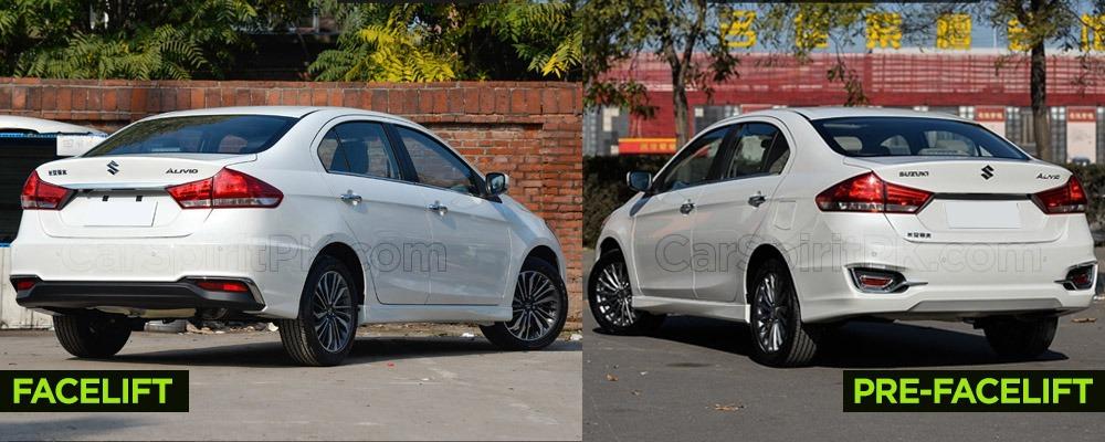 Visual Comparison: Suzuki Alivio Pro (Ciaz) Pre-Facelift vs Facelift 7