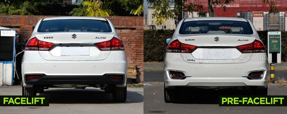 Visual Comparison: Suzuki Alivio Pro (Ciaz) Pre-Facelift vs Facelift 8