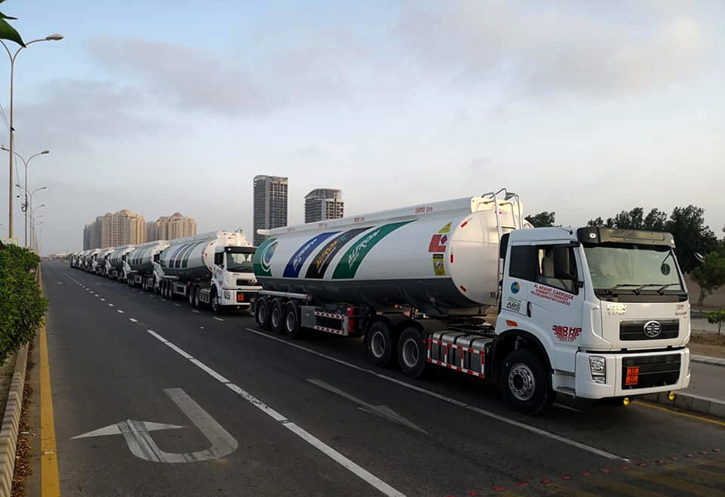 FAW Delivers OGRA Compliant J5P-360 Trucks to PSO 1