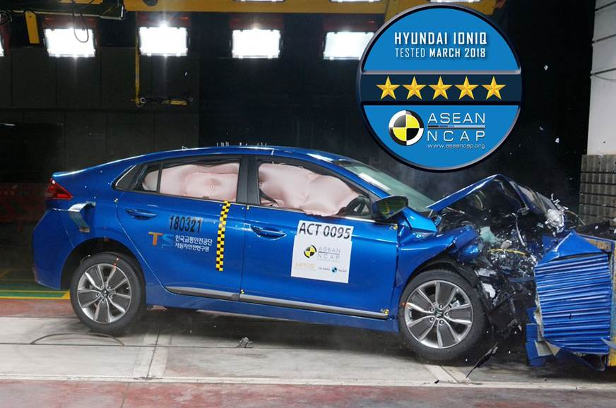 2018 Hyundai Ioniq Scores 5 Starts at ASEAN NCAP Crash Tests 1