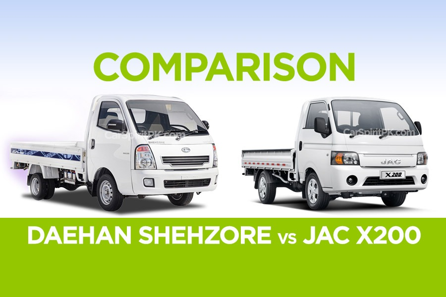 Comparison: Daehan Shehzore vs JAC X200 1
