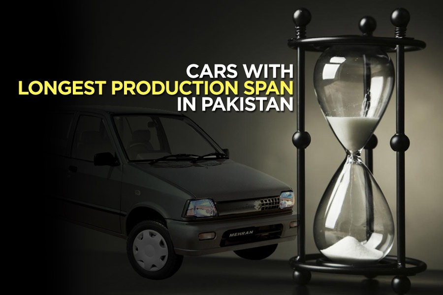 Cars with Longest Production Span in Pakistan 2