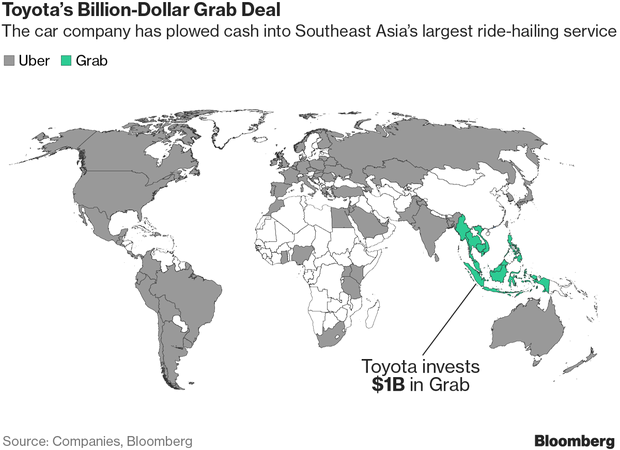 Toyota to Invest $1 Billion in Grab Ride Hailing 7