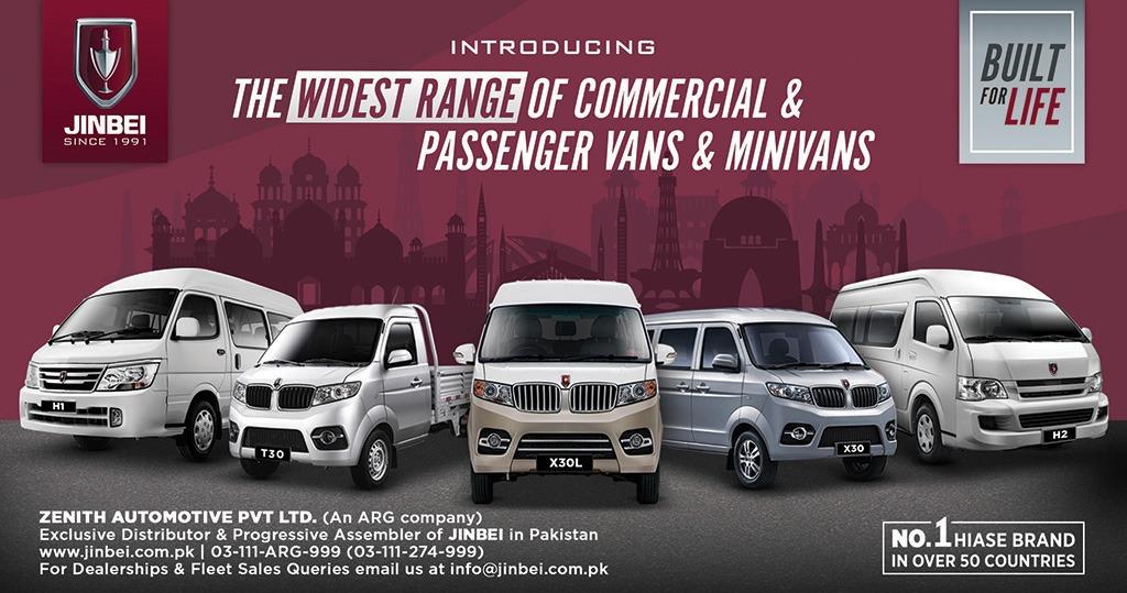 Jinbei Launches Range of Vans and Minivans in Pakistan 1