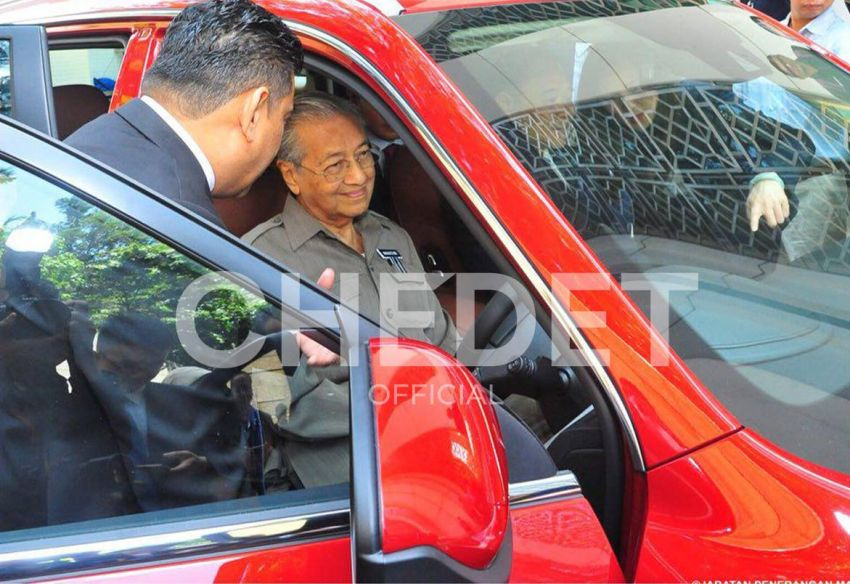 Malaysian Prime Minister Dr. Mahatir Mohammad Impressed with Geely Boyue 3