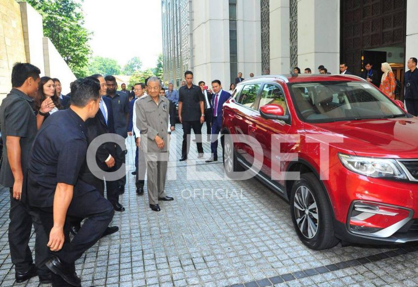 Malaysian Prime Minister Dr. Mahatir Mohammad Impressed with Geely Boyue 2