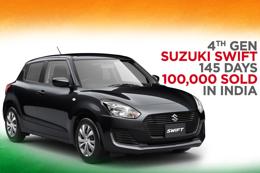 Suzuki Swift Achieves 100,000 Sales Mark in Just 145 Days in India 12