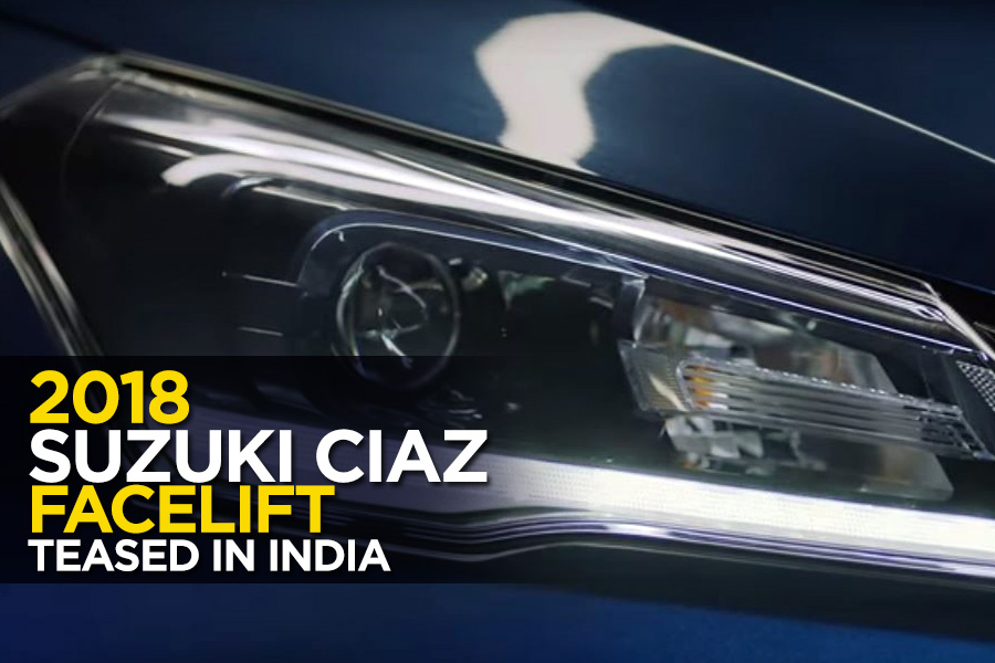 2018 Suzuki Ciaz Facelift Teased in India 1