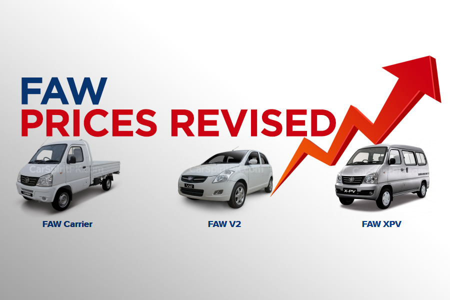 FAW Car Prices Increased 3