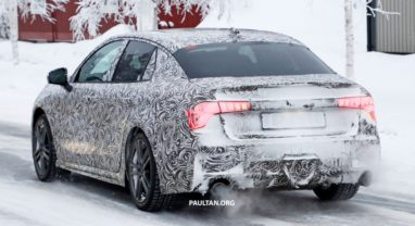 First Official Spyshots of Geely's Lynk & Co 03 Sedan 5