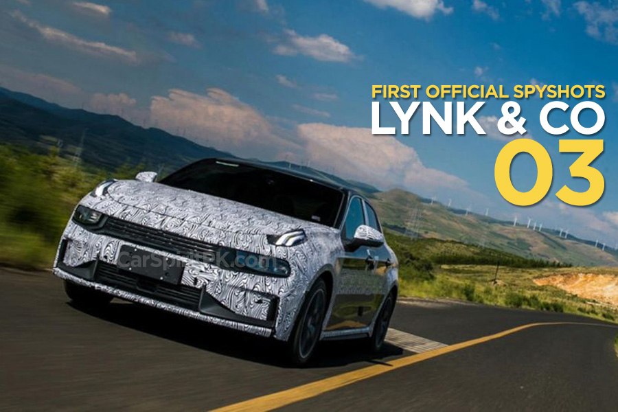 First Official Spyshots of Geely's Lynk & Co 03 Sedan 1