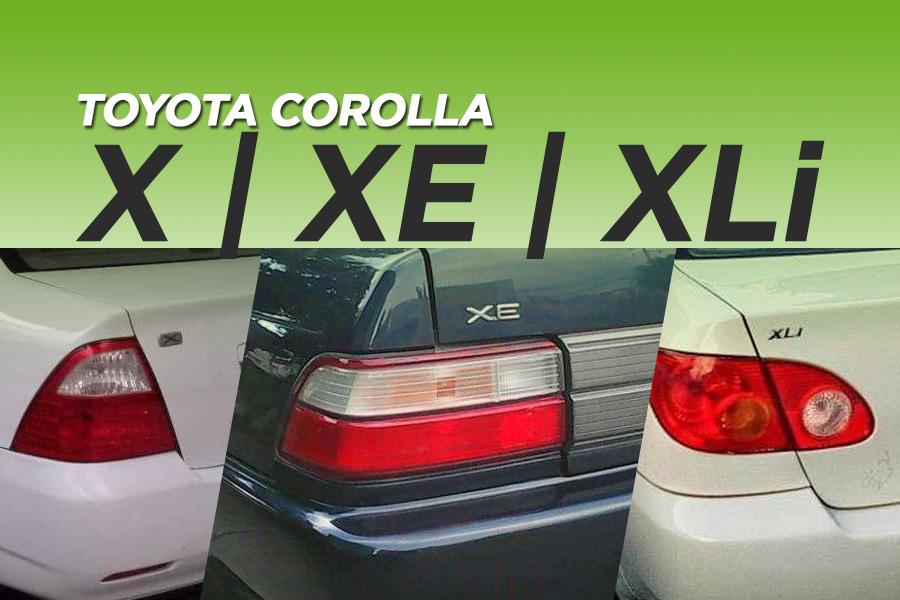 X, XE, XLi- The Most Popular Corolla Grades in Pakistan 3