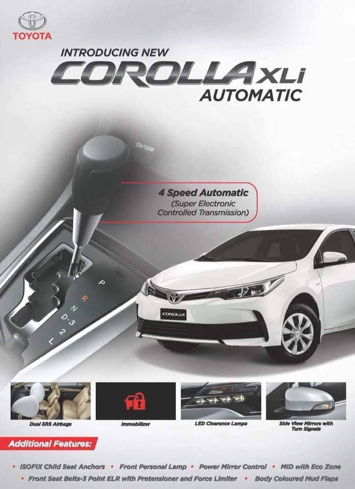 Indus Motors to Launch Corolla XLi Automatic 2