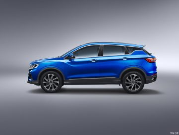 Geely SX11 Crossover Named as BinYue in China 4