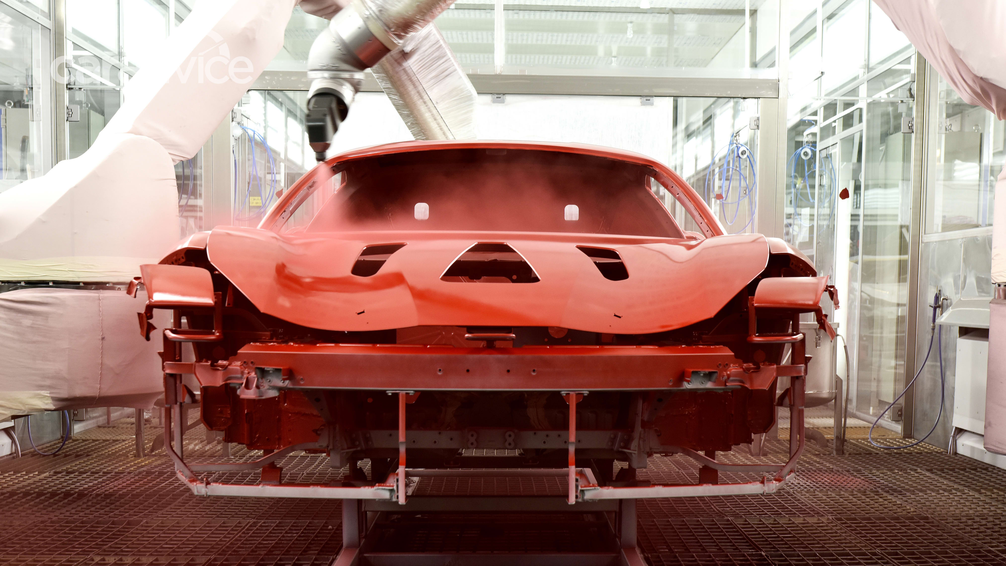 Ferrari Introduces Worlds First Low-Bake Paint Finish 1