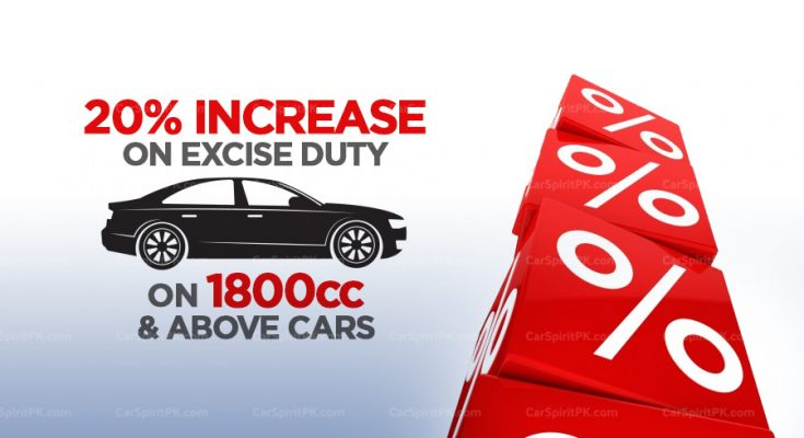 Excise Duty on 1800cc & Above Cars Increased to 20% 1