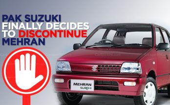 Pak Suzuki to Finally Discontinue Suzuki Mehran 10